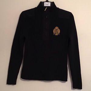 Lauren Ralph Lauren Cable Knit Zip Collar Sweater